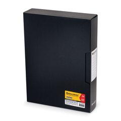 """Папка 100 вкладышей BRAUBERG """"Business"""" (БРАУБЕРГ """"Бизнес""""), черная, 0,8 мм, в пластиковом коробе"""