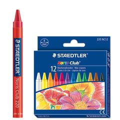 """Восковые мелки STAEDTLER (Штедлер, Германия) """"Noris club"""", 12 цветов, круглые, картонная упаковка с европодвесом"""