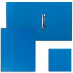 """Папка на 2 кольцах ESSELTE """"Standard"""", картон/ПВХ, 35 мм, синяя, до 190 листов"""