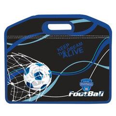 Сумка пластиковая BRAUBERG (БРАУБЕРГ), A4, на молнии, цветная печать, для мальчиков, футбол, 37х30 см
