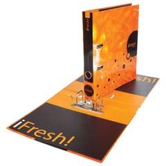 "Папка-регистратор HATBER HD, 2-х стороняя запечатка, 50 мм, ""IFRESH-апельсин"", ПР4 11263"