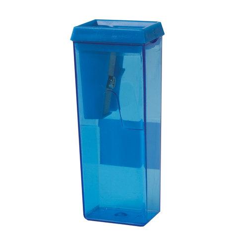 Точилка BEIFA (Бэйфа), с контейнером, прямоугольная, пластиковая, в дисплее, ассорти