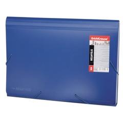 """Папка на резинках ERICH KRAUSE """"Megapolis"""", А4, 13 отделений, пластиковый индекс, синяя, 0,7 мм"""