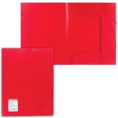 """Папка на резинках ERICH KRAUSE """"Standard"""", А4, красная, до 300 листов, 0,6 мм"""