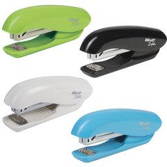 """Степлер KW-trio """"Dolphin Half-strip"""", №24/6, до 20 листов, ассорти (черный, голубой, зеленый, белый)"""