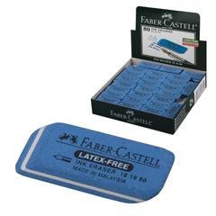 """Резинка стирательная FABER-CASTELL """"7016"""", для туши и чернил, каучук, 34x14x8 мм, синий"""