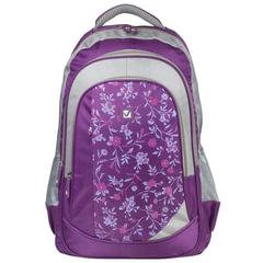 """Рюкзак BRAUBERG для старшеклассников/студентов/молодежи, """"Цветочный узор"""", 25 литров, 30х18х49 см"""