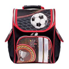 """Ранец жесткокаркасный BRAUBERG для учеников начальной школы, """"Футбол"""", 18 литров, 35х26х15 см"""