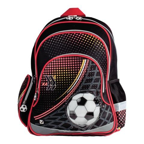 """Рюкзак BRAUBERG для учеников начальной школы, """"Футбол"""", 20 литров, 42х28х15 см"""