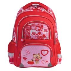 """Рюкзак BRAUBERG, с EVA спинкой, для учениц начальной школы, """"Мишка"""", 20 литров, 38х30х14 см"""