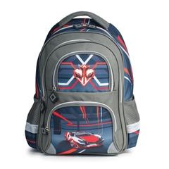 """Рюкзак BRAUBERG, с EVA спинкой, для учеников начальной школы, """"Красная машина"""", 20 литров, 38х30х14 см"""