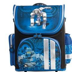 """Ранец жесткокаркасный BRAUBERG для учеников начальной школы, """"Робот"""", 20 литров, 37х29х17 см"""