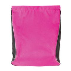 Сумка для обуви BRAUBERG для девочек, суперплотная, увеличеннный объем, черная/малиновая, 44х37 см