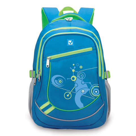 """Рюкзак BRAUBERG для старших классов/студентов/молодежи, """"Лазурь"""", 30 литров, 46х34х18 см"""