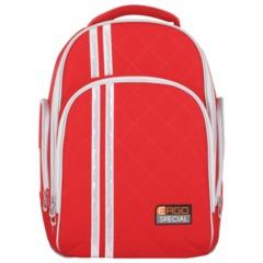Рюкзак с ортопедической спинкой TIGER FAMILY (ТАЙГЕР) Полосы, красный, 19 л, 39х31х22 см