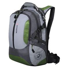 Рюкзак WENGER (Швейцария), универсальный, зелено-серый, 30 литров, 36х17х50 см