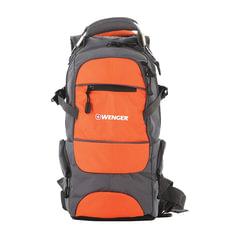 Рюкзак WENGER (Швейцария), универсальный, серо-оранжевый, 22 литра, 23х18х47 см