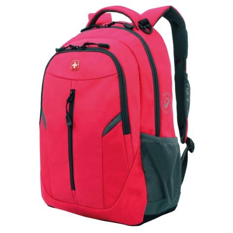 Рюкзак WENGER для старшеклассниц/студенток, розовый, серые вставки, 22 литра, 32х15х45 см