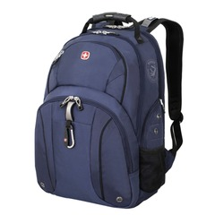 Рюкзак WENGER (Швейцария), универсальный, сине-черный, 26 литров, 34х16х48 см