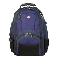Рюкзак WENGER (Швейцария), универсальный, сине-черный, 29 литров, 35х19х44 см