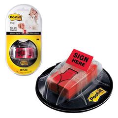 Диспенсер для закладок самоклеящиеся POST-IT Professional + закладки 25 мм, 200 шт., стрелки, красные