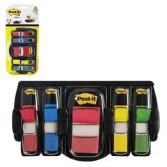 Диспенсер для закладок самоклеящиеся POST-IT Professional, черный + закладки 1 шт. - 25 мм, 4 шт. - 12,7 мм