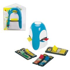 Диспенсер для закладок самоклеящ. POST-IT Professional, голубой + закладки 1 шт. - 25 мм, 4 шт. - 12,7 мм