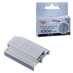 Скобы для степлера KOH-I-NOOR, №24/6, 1000шт., в картонной коробке с подвесом