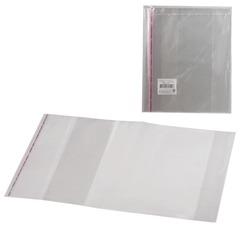 Обложки ПП для учебника младших классов в твердом переплете, комплект 5 шт., клейкий край, 80 мкм, 280х450 мм