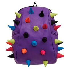 """Рюкзак MADPAX """"Rex 2 Half"""", универсальный, молодежный, 16 л, фиолетовый, """"Цветные шипы"""", 36х31х15 см"""