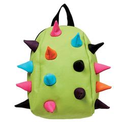 """Рюкзак MADPAX """"Rex Pint Mini 2"""", молодежный, мини, 5 л, салатовый, """"Цветные шипы"""", 26х19х10 см"""