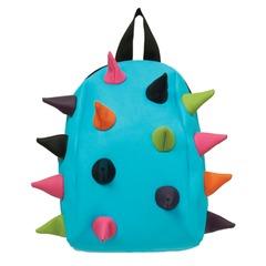 """Рюкзак MADPAX """"Rex Pint Mini 2"""", молодежный, мини, 5 л, голубой, """"Цветные шипы"""", 26х19х10 см"""
