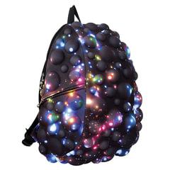 """Рюкзак MADPAX """"Bubble Full"""", универсальный, молодежный, 32 л, черно-синий, """"Пузыри"""", 46х35х20 см"""