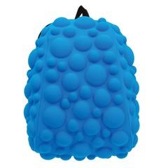 """Рюкзак MADPAX """"Bubble Half"""", универсальный, молодежный, 16 л, голубой, """"Пузыри"""", 36х31х15 см"""