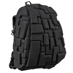"""Рюкзак MADPAX """"Blok Half"""", универсальный, молодежный, 16 л, черный, """"Блоки"""", 36х30х15 см"""