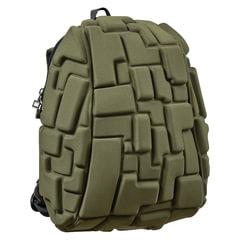 """Рюкзак MADPAX """"Blok Half"""", универсальный, молодежный, 16 л, темно-зеленый, """"Блоки"""", 36х30х15 см"""