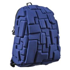"""Рюкзак MADPAX """"Blok Half"""", универсальный, молодежный, 16 л, синий, """"Блоки"""", 36х30х15 см"""