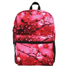 "Рюкзак MOJO ""Cherry Blossom"", универсальный, молодежный, 20 л, розово-черный, ""Цветы"", 43х30х16 см"