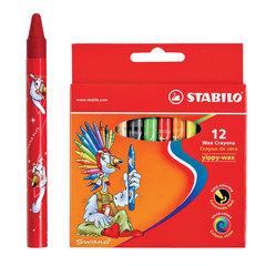 Карандаши stabilo трехгранные 12 цветов