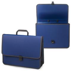 """Портфель пластиковый BRAUBERG """"Консул"""", А4, 370х280х120 мм, 2 отделения, синий"""