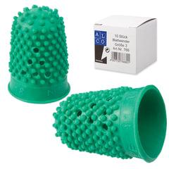 Напальчник для бумаги, диаметр 18 мм, высота 30 мм, ALCO (Германия) 766, зеленый, резиновый