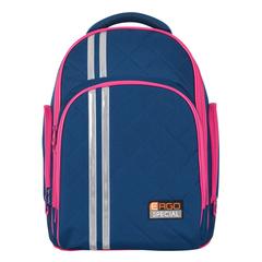 Рюкзак с ортопедической спинкой TIGER FAMILY (ТАЙГЕР) Полосы, синий/малиновый, 19 л, 39х31х22 см
