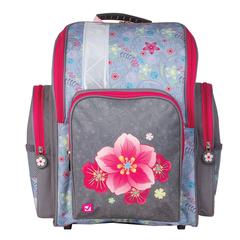 """Ранец жесткокаркасный BRAUBERG (БРАУБЕРГ), для учениц начальной школы, """"Орхидея"""", 18 литров, 36х26х14 см"""