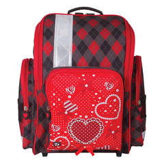 """Ранец жесткокаркасный BRAUBERG (БРАУБЕРГ), для учениц начальной школы, """"Сердце"""", 18 литров, 36х26х14 см"""
