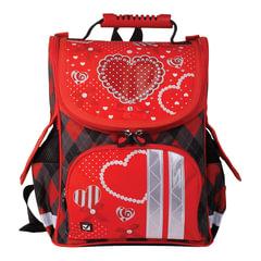 """Ранец жесткокаркасный BRAUBERG (БРАУБЕРГ) для учениц начальной школы, """"Сердце"""", 17 литров, 34х26х16 см"""