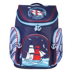 """Ранец жесткокаркасный BRAUBERG (БРАУБЕРГ) для учеников начальной школы, """"Корабль"""", 14 литров, 38х29х19 см"""