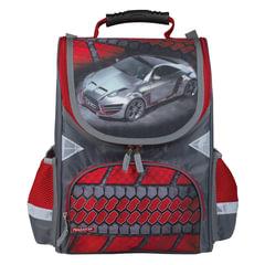 """Ранец жесткокаркасный ПИФАГОР, для учеников начальной школы, """"Машина"""", 15 литров, 36х28х15 см"""