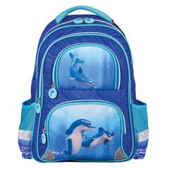 """Рюкзак BRAUBERG (БРАУБЕРГ), с EVA спинкой, для учениц начальной школы, """"Дельфин"""", 12 литров, 38х30х14 см"""