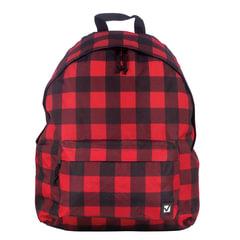 Рюкзак BRAUBERG (БРАУБЕРГ) универсальный, сити-формат, красный в клетку, Тартан, 23 литра, 43*34*15 cм