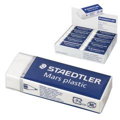 """Резинка стирательная STAEDTLER (Штедлер, Германия), Премиум """"MARS PLASTIC"""", 65x23x13 мм, картонный держатель, белая"""